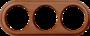 рамка 3п орех